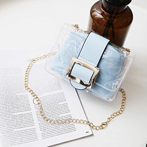 Kword Donne Trasparente Borse Caramelle Colori Box Impermeabile Messenger Borse Spalla Borse Blu