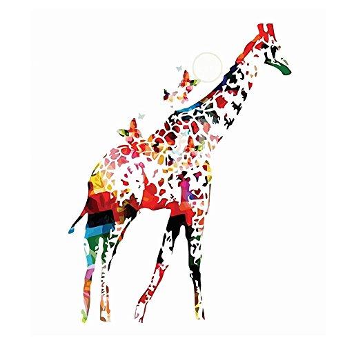 Stile Crafts Arts Home And (beiguoxia Watercolor Giraffe Schmetterlinge Leinwand Malerei Wand Art Craft Home Decor, canvas, mehrfarbig, 21x30cm)
