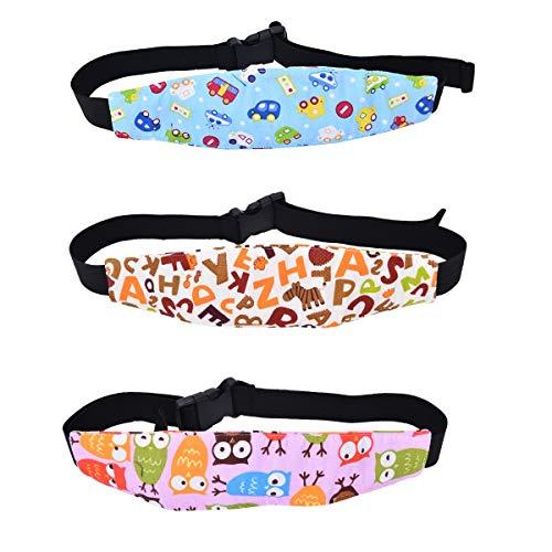JZK 3 Doux Bébé Sécuritér porte-tête fixation ceinture Sièges de Voiture, arrêter cou des enfants qui tombent ou se balancer en avant quand dormir / sieste