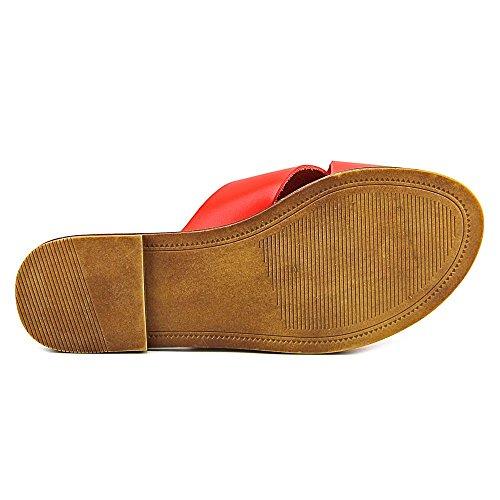 Steve Madden Dryzzle Diapositive Flat Sandal Orange Leather
