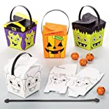 Cajitas Colorear niños pasen Horas de diversión en Halloween y como Regalos para Bolsas Sorpresa (Pack de 8).