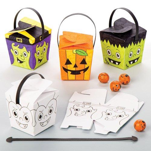Baker Ross Schachteln zum Ausmalen Halloween als lustiges Spielzeug für Kinder zum günstigen Preis – perfekt als kleine Party-Überraschung für Kinder zu Halloween (8 ()