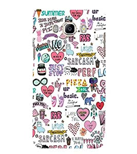 Fabcase modern dashing creative notebook multiple factors typography designs Designer Back Case Cover for Samsung Galaxy ON 8 (2016)