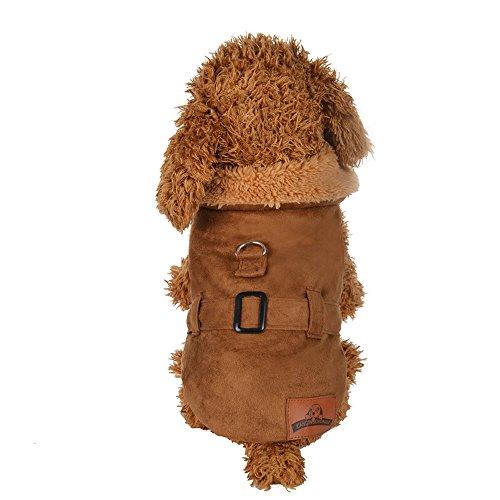 Fenverk 1Pc Katze Hund Weihnachten Ankleiden Haustier KostüM Cosplay Kombination Mantel HüNdchen Klein Halloween Kleider Bezaubernd ()