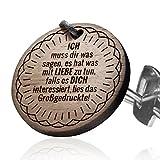 Schlüsselanhänger mit Gravur: Ich muss dir was sagen, es hat was mit Liebe zutun...