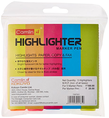 Camlin-Office-Highlighter-Pack-of-5-Assorted-Colors