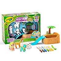 ‏‪Crayola Scribble Scrubbie Safari Animals Tub Set, Color & Wash Creative Toy, Gift for Kids, Age 3, 4, 5, 6‬‏