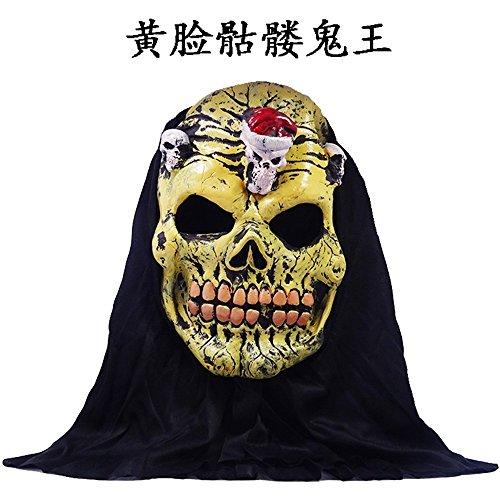 (Haoxiaren Masken Für Erwachsene Halloween Horror Grimasse'S Maske Mann Head Set Schwarzes Tuch Kopfstück Teufel Schreckliche Dämon Nach Scary Clown Cosplay Requisiten)