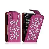 Seluxion - Housse étui coque pour Apple Iphone 3G 3GS rose motif fleurs + film protecteur ecran
