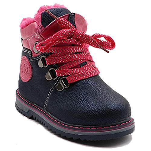 Kinder Schnee Stiefel Mode niedlich Krawatte Plüsch warme Winter Flache Stiefel Jungen weichen Boden Gummi Schneeschuhe -