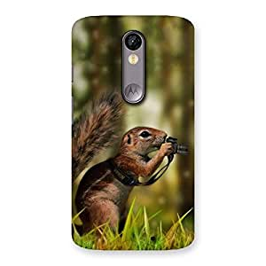 Cute Squirrel Multicolor Back Case Cover for Moto X Force