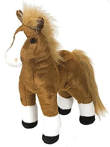 Cuddlekins Plüschtier braunes Pferd, Kuscheltier ca. 30 cm