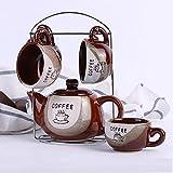 WEI Keramische Kaffeekanne Set Kreative Kaffeekanne Set Geschenkbox Ein Topf Vier Tassen,Bild,Einheitsgröße
