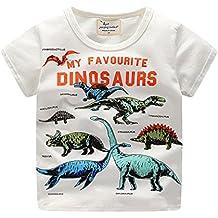 Bekleidung Sommerkleid Hirolan Babyshirt Kleinkind Kinder Jungen Kleider Kurzarm Dinosaurier Drucken Oberteile T-Shirt Bluse Unisex Baby T-Shirt