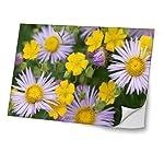 """Blumen 10012, Bunte Blumen, Skin-Aufkleber Folie Sticker Laptop Vinyl Designfolie Decal mit Ledernachbildung Laminat und Farbig Design für Laptop 17"""""""