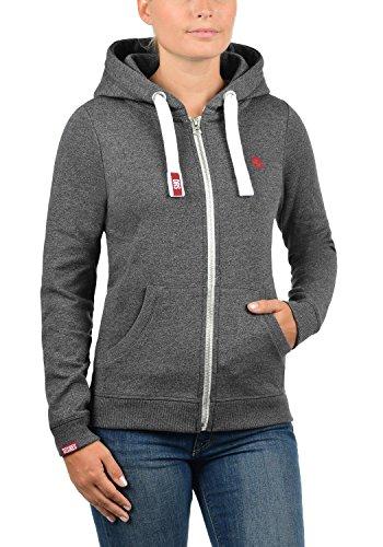 DESIRES BennjaZipHoodie Damen Sweatjacke Kapuzen-Jacke Zip-Hoodie mit Fleece-Innenfutter aus hochwertiger Baumwollmischung Med Grey Melange (8254)