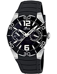 87eb564dd743 Lotus 15701 8 - Reloj analógico de mujer de cuarzo con correa de plástico  negra