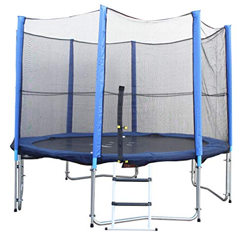 Gigajump®, Spar-Set (3,96 Meter Trampolin + Sicherheitsnetz + Abdeckplane + Leiter) (#301020)