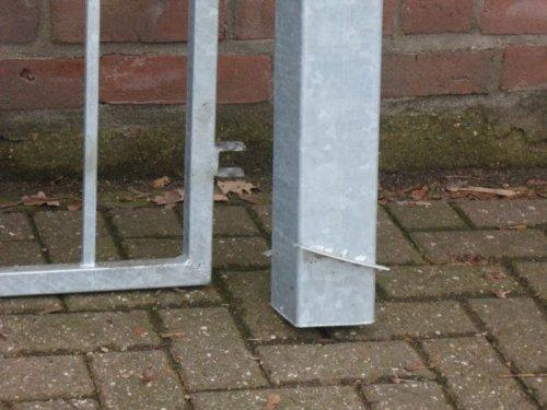 Hochwertiges, 2-flügeliges Einfahrtstor verzinkt / Tor-Einbau-Breite: 350 cm - Tor-Einbau-Höhe: 180 cm - Inklusive 2 Pfosten / Gartentor Einfahrtstor Hoftor