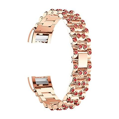 Vovotrade ❤❤ Für Fitbit Charge 2 echtes Edelstahl Armband intelligentes Uhr Band Bügel für Fitbit Gebühr 2 (B)