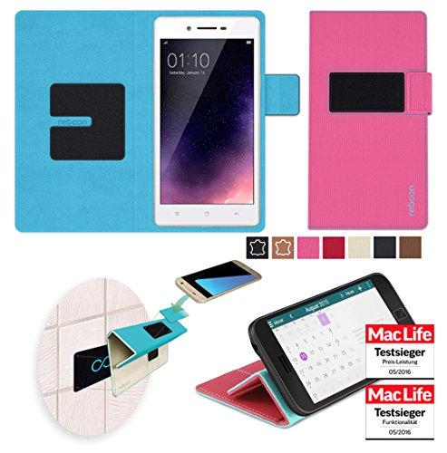 reboon Hülle für Oppo Neo 7 Tasche Cover Case Bumper | Pink | Testsieger