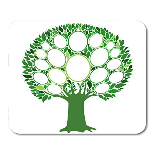 Deglogse Gaming-Mauspad-Matte, Green Ancestry Family Tree Frames Empty for Your Input Mouse Pad, Desktop Computers mats - Frame Green Matte