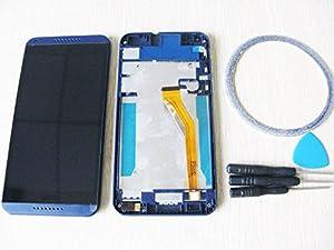 For HTC Desire 816 LCD Display TouchScreen Bildschirm Front Glas Rahme blau+Werkzeug & Klebeband