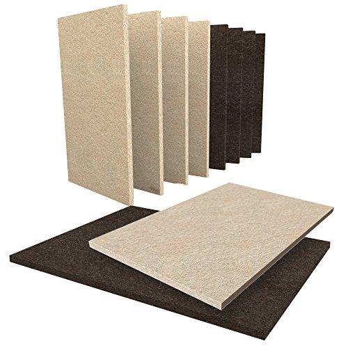 Möbel Pads 10Stück Filz Bundle–5große beige & 5groß braun Möbel Filz Blatt 15x 11cm in Größe. Möbel Filz Boden Schutz Pads Hartholz Böden zu schützen, Hartfußböden & Möbel. Premium Heavy Duty selbst Stick Pads kann einfach zugeschnitten werden Größen