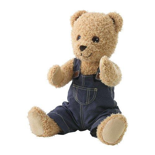 IKEA BRUMMA - juguete suave con ropa, oso
