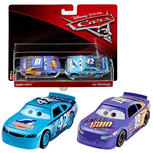 Disney Cars 3 Cast 1:55 - Auto Fahrzeuge Doppelpack zur Auswahl, Typ:Bobby Swift & Cal Weathers