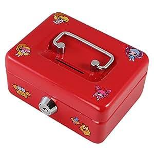 Caisse à Monnaie, 12,5 cm, Tirelire pour enfant avec motifs, Couleur rouge ou bleu HMF