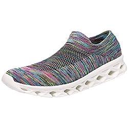 Overmal Paare Modische Freizeit Laufen Sport Socken Schuhe Elastische Kraft Leichte Atmungsaktive Männer Turnschuhe Damen Mädchen Outdoor Sportschuhe Fitnessschuhe Sneakers