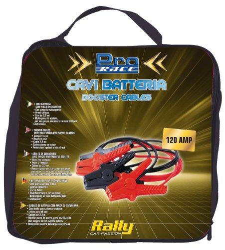 Rally 11227 - Cavi Batteria, 120 AMP, 2,2 mt x 7,4 mm, 2