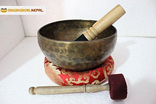 Die Herzen und hohe Herz Chakra F Note auntic von Hand gehämmert Tibet Meditation Klangschale 20,3cm-Yoga Alte Schale von Klangschale Nepal