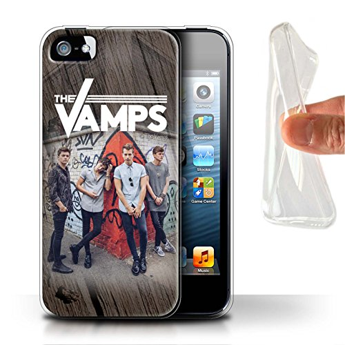 Offiziell The Vamps Hülle / Gel TPU Case für Apple iPhone SE / Skizzieren Muster / The Vamps Fotoshoot Kollektion Holz-Effekt