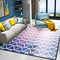 HYRL Alfombra nórdica Abstracta geométrica, 3D Impreso Alfombra de Gran tamaño para casa Moderna Vida Alfombra Espesar Sala de Estar alfombras Arte Decor,#6,80160