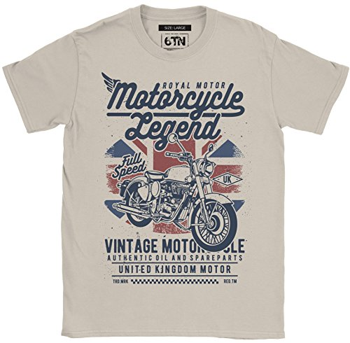 6TN Uomo Moto Legend T-Shirt - Sabbia, Medium