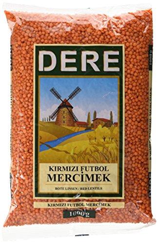 DERE  Rote Linsen Kirmizi Futbol Mercimek, 6er Pack (6 x 1 kg)