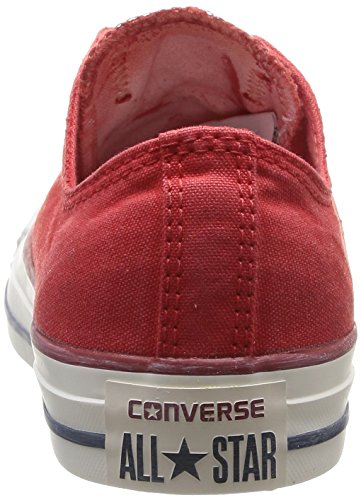 Converse Chuck Taylor All Star Wash Ox, Baskets mode femme Rouge