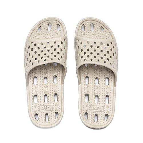 Chaussons DWW Pour Hommes à Séchage Rapide Salle de Bain Anti-Dérapant Épais Creux Chaussures de Massage Color2