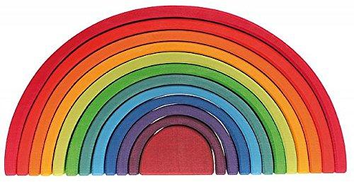 Grimm's Spiel und Holz Design 12-teiliger Regenbogen gross (Große Spiele)