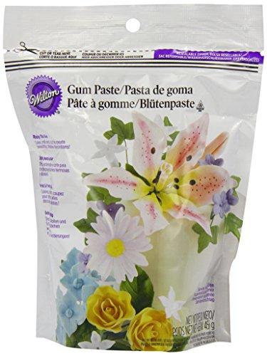 Pastillage gebrauchsfertig, Blütenpaste 453g, weiße Modelliermasse