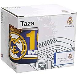 Fantasy Taza Real Madrid, Cerámica, Negro, 9 x 8 x 6 cm