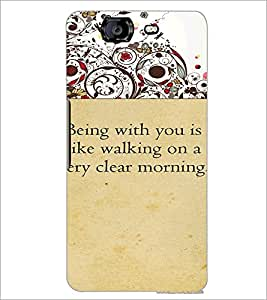 PrintDhaba Quote D-4716 Back Case Cover for MICROMAX A350 CANVAS KNIGHT (Multi-Coloured)