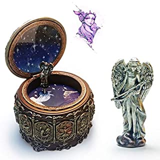 Music Box for Girls, Amamary88 Retro Twelve Constellations Resin ''Castle in the Sky''Music Box Cristmas Birthday Gift (Sagittarius)