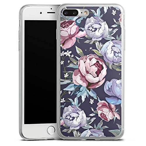 Apple iPhone 8 Slim Case Silikon Hülle Schutzhülle Blumen Rosen Geschenk Silikon Slim Case transparent