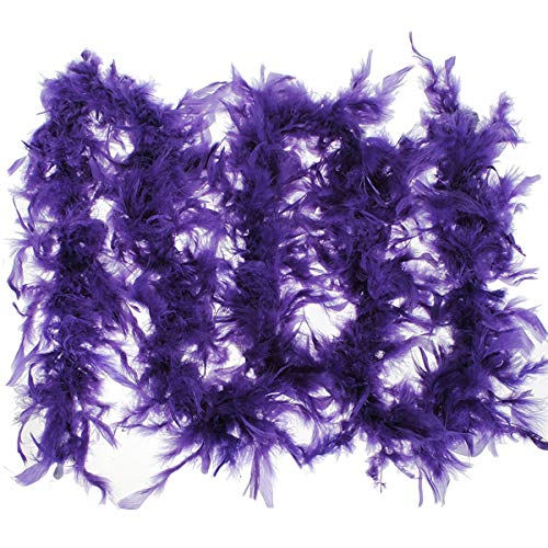 Kostüm Flauschige Federboa Junggesellinnenabschied, Party, Hochzeit Kleid Schal, Dark Purple Purple Party Kleider