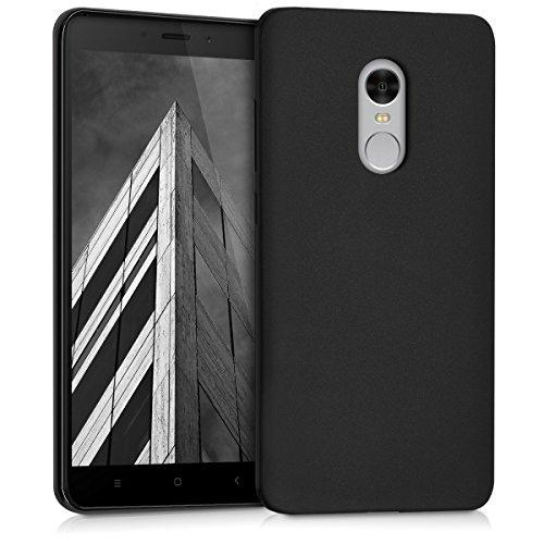 kwmobile Schutzhülle kompatibel mit Xiaomi Redmi Note 4 / Note 4X - [TPU Silikon] - Schutzhülle [Rückseite] in [matt-schwarz] - 4 Matt