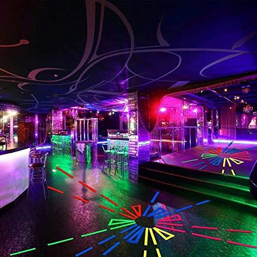 Nastro in tessuto Gaffer fluorescente, Konesky 6pcs nastro fluorescente bagliore al buio UV Blacklight reattivo bagliore nastro al neon per il partito Art Craft decorazioni di Halloween (6 colori)