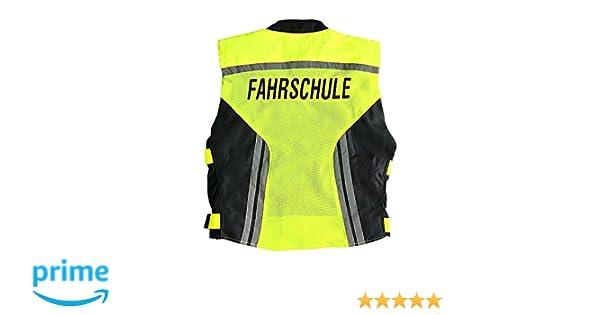 Fluogelb GERMAS 911.00-50-M Meshweste PREMIUM//Fahrschule M Gr